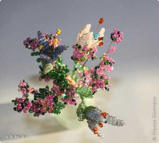 Цветочки из бисера МК.