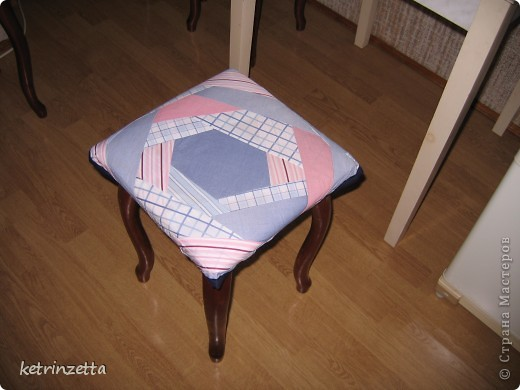 """Одеяло и сидушки на стулья в стиле """"крэйзи-пэчворк"""". фото 4"""