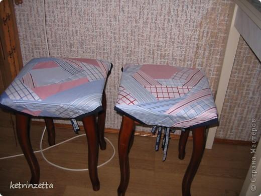 """Одеяло и сидушки на стулья в стиле """"крэйзи-пэчворк"""". фото 5"""