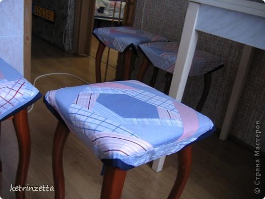 """Одеяло и сидушки на стулья в стиле """"крэйзи-пэчворк"""". фото 6"""