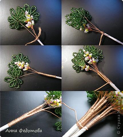 Бисероплетение - Цветущий каштан бисерное дерево из бисера.