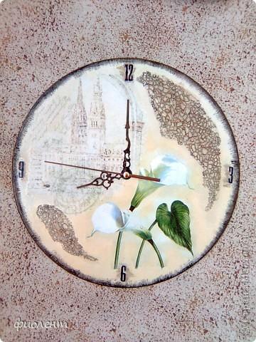 Декор предметов Декупаж Кракелюр Часы без названия Салфетки фото 1