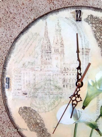 Декор предметов Декупаж Кракелюр Часы без названия Салфетки фото 2