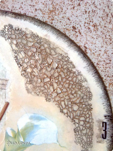 Декор предметов Декупаж Кракелюр Часы без названия Салфетки фото 3
