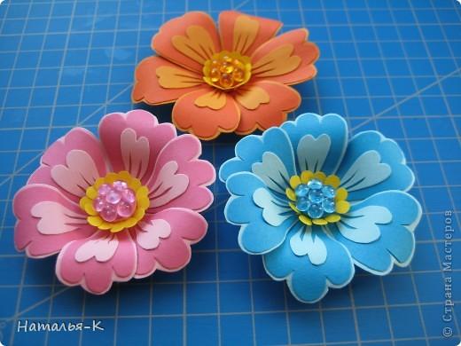 Мастер-класс Бумагопластика Цветы Картон фото 1