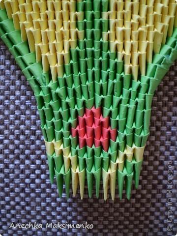 Мастер-класс Поделка изделие Оригами китайское модульное МК кобры Бумага фото 5