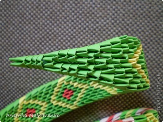 Мастер-класс Поделка изделие Оригами китайское модульное МК кобры Бумага фото 11
