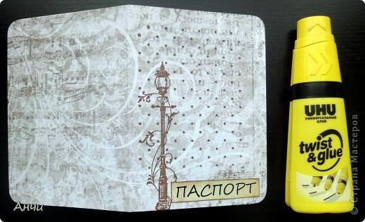 Мастер-класс Скрапбукинг Делаем обложку на паспорт вместе со мной  Бумага Клей фото 14