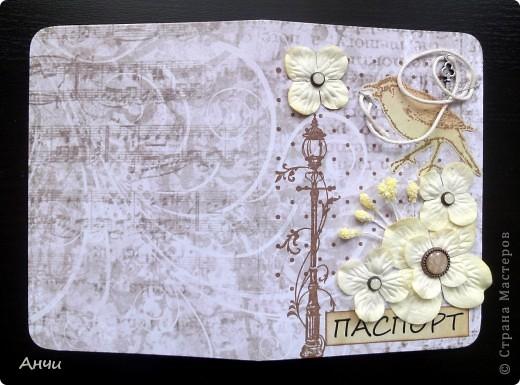 Мастер-класс Скрапбукинг Делаем обложку на паспорт вместе со мной  Бумага Клей фото 19