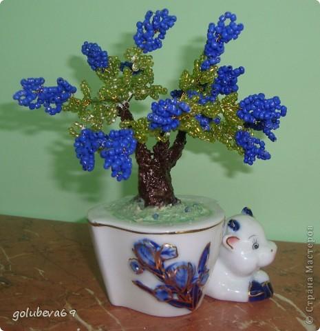 Деревце из бисера. Подарок к 8 марта. фото 2