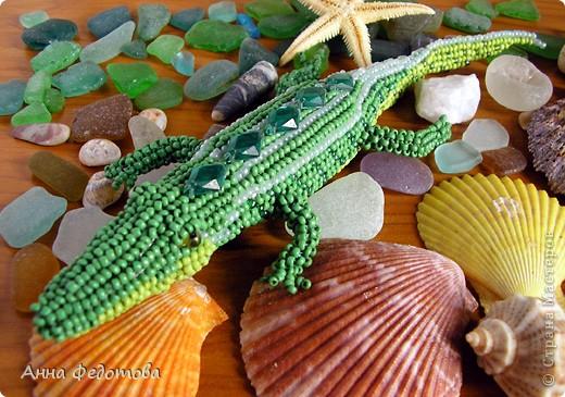 Крокодил из бисера Бисер