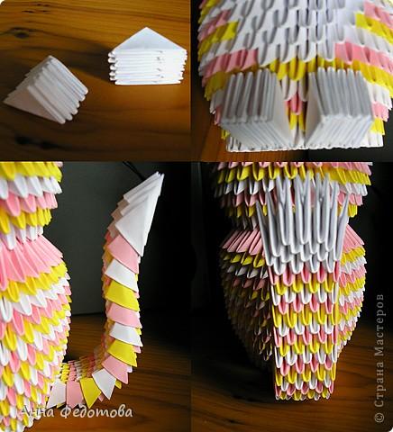 Мастер-класс Оригами китайское модульное Цветные котики из модулей Бумага фото 10