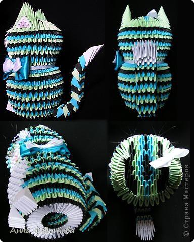 Мастер-класс Оригами китайское модульное Цветные котики из модулей Бумага фото 11