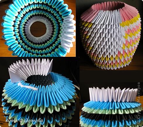Мастер-класс Оригами китайское модульное Цветные котики из модулей Бумага фото 5