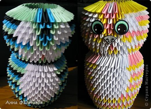 Мастер-класс Оригами китайское модульное Цветные котики из модулей Бумага фото 7