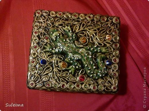 Декор предметов Аппликация из скрученных жгутиков Пейп арт Салфетки фото 1
