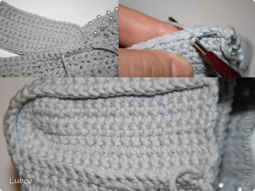 Мастер-класс Поделка изделие Презент от Голубки Вязание крючком Вечерняя сумочка с бусинами Бусинки Пряжа фото 42