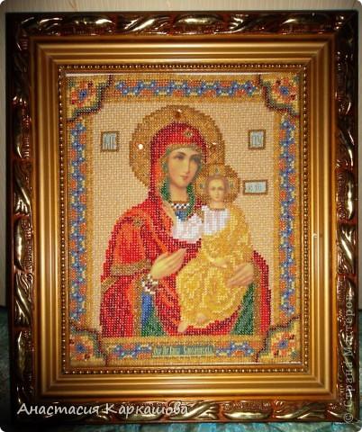 Богородица Смоленская бисером фото 1