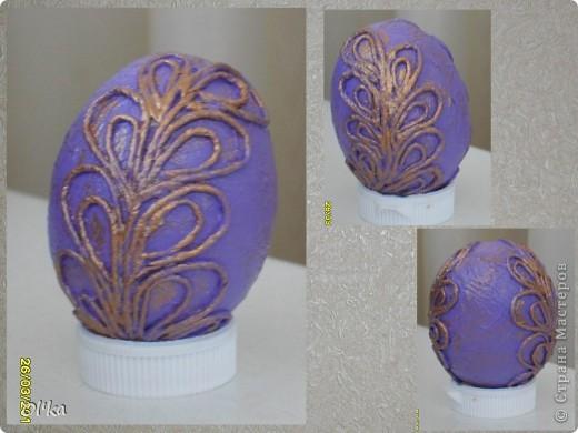 """Девочки, здравствуйте! Пейп-арт Татьяны Сорокиной крепко держит меня в своих сетях. ☺ На этот раз я """"прошлась"""" по яйцам.   Как говорится: снесла Курочка яичко.....  фото 4"""