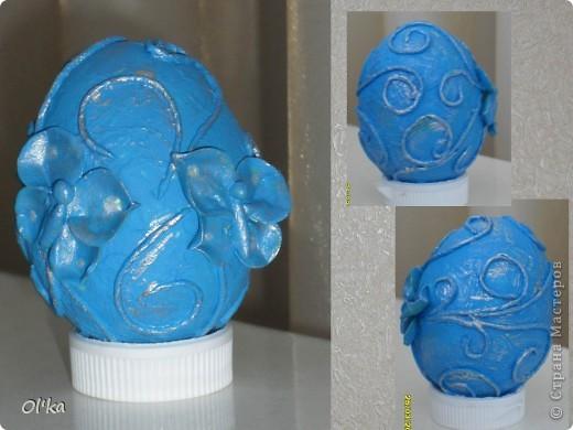 """Девочки, здравствуйте! Пейп-арт Татьяны Сорокиной крепко держит меня в своих сетях. ☺ На этот раз я """"прошлась"""" по яйцам.   Как говорится: снесла Курочка яичко.....  фото 2"""