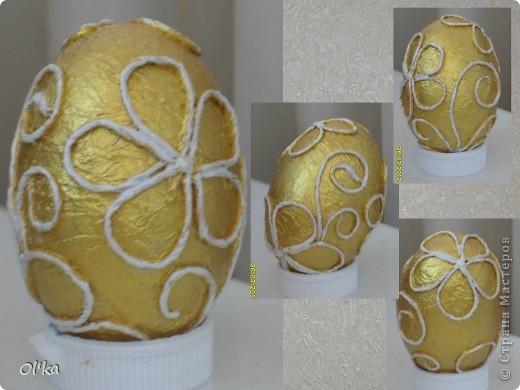 """Девочки, здравствуйте! Пейп-арт Татьяны Сорокиной крепко держит меня в своих сетях. ☺ На этот раз я """"прошлась"""" по яйцам.   Как говорится: снесла Курочка яичко.....  фото 5"""