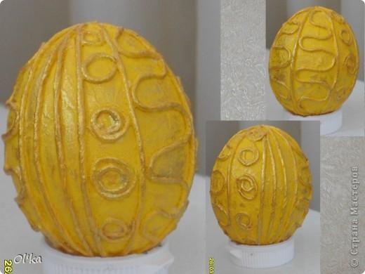 """Девочки, здравствуйте! Пейп-арт Татьяны Сорокиной крепко держит меня в своих сетях. ☺ На этот раз я """"прошлась"""" по яйцам.   Как говорится: снесла Курочка яичко.....  фото 3"""