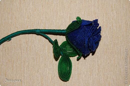 Плетение - роза из бисера-1.