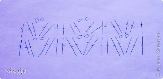 """Топ """"Морская волна"""" Вяжется стандартно: 2 половинки лифа + прямоугольник. После сборки обвязываю стбн с ниткой - резинкой (сзади ее немного стягиваю). фото 6"""