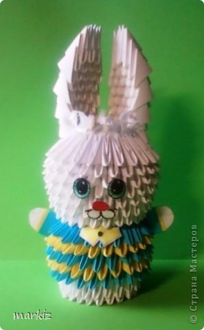Как сделать зайца из бумаги модульное
