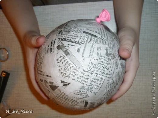 Шар для топиария  из бумаги