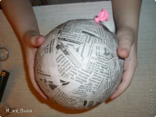 Папье-маше шар своими руками пошагово