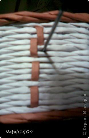 Декор предметов Мастер-класс Поделка изделие Бумагопластика Декупаж Моделирование Плетение Новый узор + МК Бумага газетная Салфетки фото 9