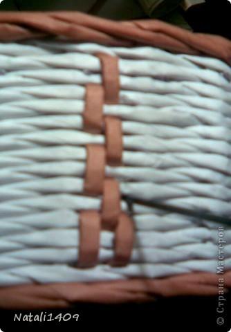 Декор предметов Мастер-класс Поделка изделие Бумагопластика Декупаж Моделирование Плетение Новый узор + МК Бумага газетная Салфетки фото 10