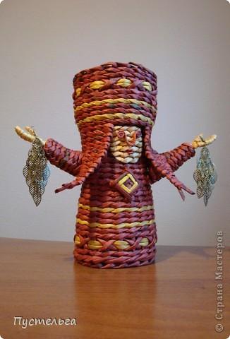 Поделка изделие Плетение Подарушка Бумага газетная фото 3