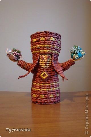 Поделка изделие Плетение Подарушка Бумага газетная фото 2