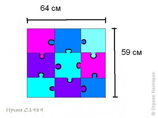 Мастер-класс Шитьё Подушки пазлы Ткань фото 2
