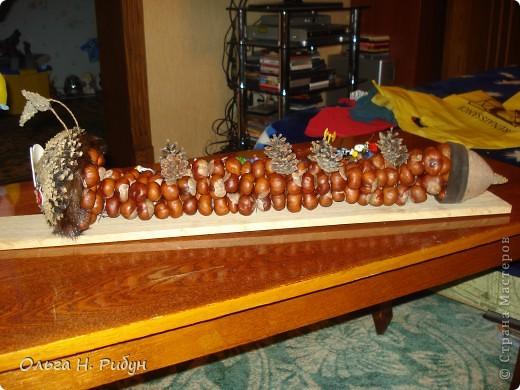 Гусеница из каштанов. фото 2