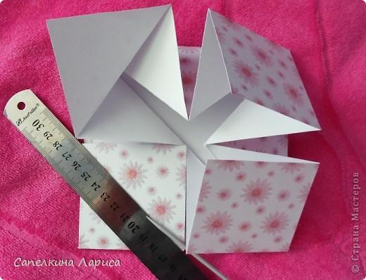 """Не знаю как называется эта форма, в нете видела несколько таких открыток, но МК по изготовлению так и не нашла, попробовала сама и вот результат: открытка крестнице на годик. Использовала скрап бумагу, компостер """"французский завиток""""от МС, принцесса-вырезка из открытки фирмы Hallmark. Для ленты основа сделана компостером """"пузырьки"""" от МС, лента из органзы с золотыми бортиками и атласная ленточка с надписью """"Маленькая принцесса"""", полубусины, стразы. фото 8"""
