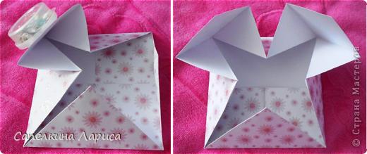 """Не знаю как называется эта форма, в нете видела несколько таких открыток, но МК по изготовлению так и не нашла, попробовала сама и вот результат: открытка крестнице на годик. Использовала скрап бумагу, компостер """"французский завиток""""от МС, принцесса-вырезка из открытки фирмы Hallmark. Для ленты основа сделана компостером """"пузырьки"""" от МС, лента из органзы с золотыми бортиками и атласная ленточка с надписью """"Маленькая принцесса"""", полубусины, стразы. фото 7"""