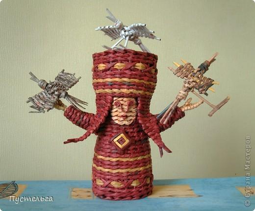Поделка изделие Плетение Подарушка Бумага газетная фото 13