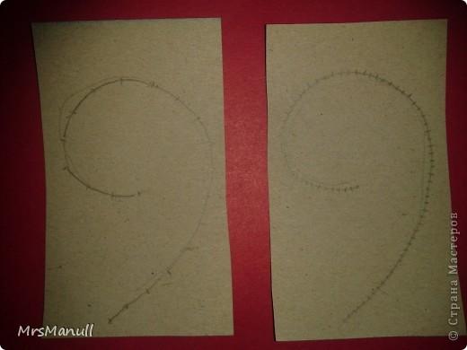 Мастер-класс Изонить Вышиваем перья Изонить МК Картон Клей Нитки фото 25