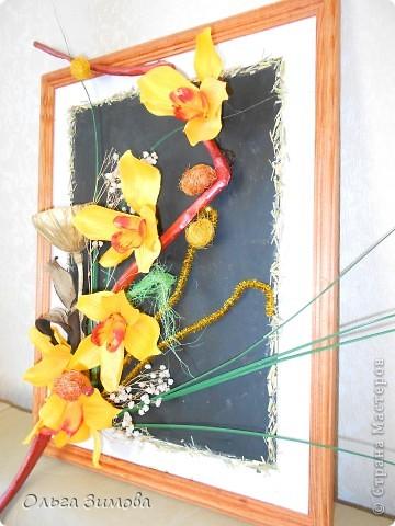 Панно с тропическими орхидеями. фото 5