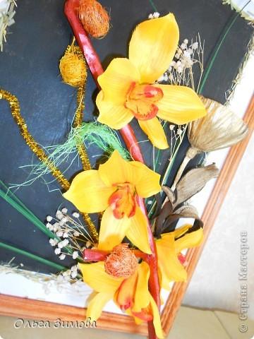 Панно с тропическими орхидеями. фото 6
