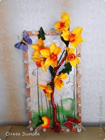 Панно с тропическими орхидеями. фото 2