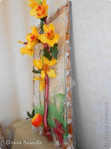 Панно с тропическими орхидеями. фото 3