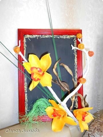 Панно с тропическими орхидеями. фото 7