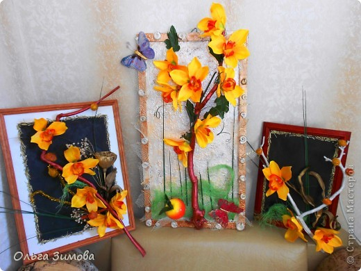 Панно с тропическими орхидеями. фото 1