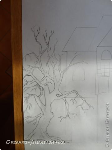 Картина панно рисунок Мастер-класс Папье-маше МК по созданию объемного дерева Бумага Гуашь Салфетки фото 2