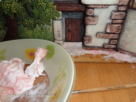 Картина панно рисунок Мастер-класс Папье-маше МК по созданию объемного дерева Бумага Гуашь Салфетки фото 4