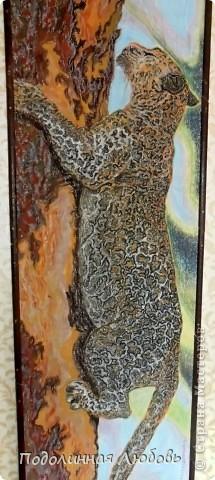 Вот еще рисунок на холсте восковыми мелками, ну теми, которые дети рисуют в детсадиках. Размер 100х60 см. фото 2
